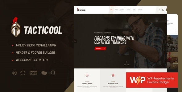 Tacticool | Shooting Range & Gun Store WordPress Theme