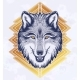 The Head of a Wolf Dreamy Magic Art - GraphicRiver Item for Sale
