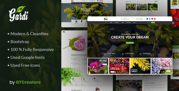 Gardening and Landscaping WordPress Theme - Gardi