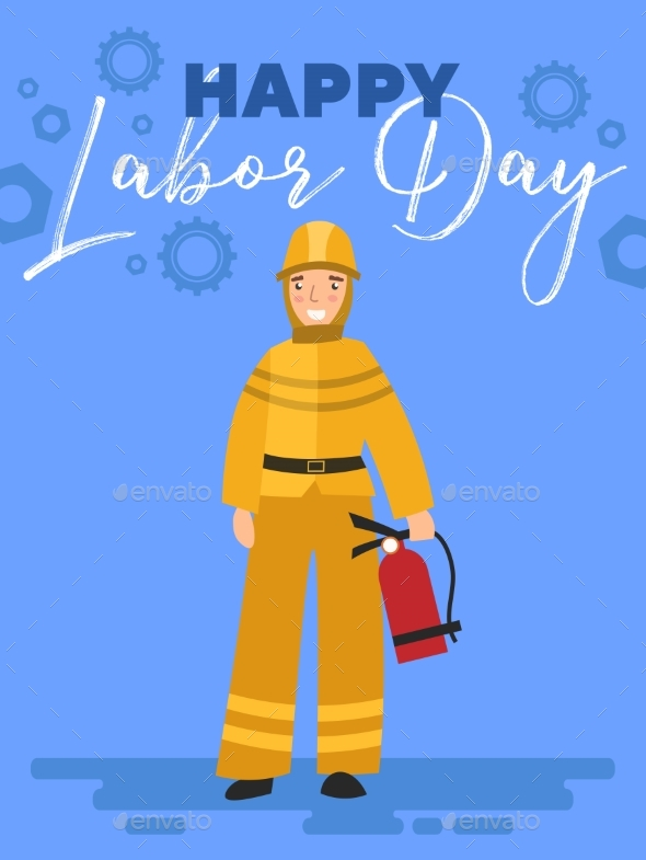Happy Labor Day Poster or Greeting Card Design