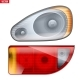 Rectangular Car Headlight and Backlight - GraphicRiver Item for Sale