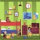 Family Cleaning with People Characters in Interior - GraphicRiver Item for Sale
