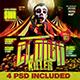 Halloween Clown Killer (4 PSD) - GraphicRiver Item for Sale