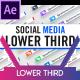 Social Media Lower Third Parallelogram - VideoHive Item for Sale