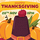 Thanksgiving Poster With Pilgrim Hat - GraphicRiver Item for Sale