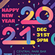 Modern Happy 2021 New Year Poster - GraphicRiver Item for Sale