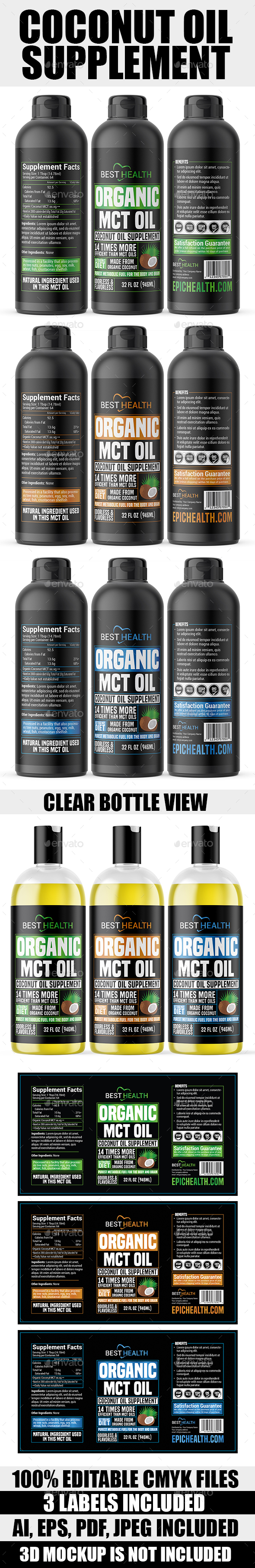 Coconut Oil Supplement (MCT Oil)