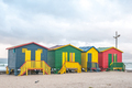 Multi-colored beach huts at Muizenberg - PhotoDune Item for Sale