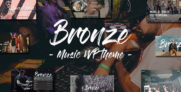 Bronze - A Professional Music WordPress Theme