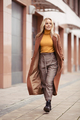 Blonde Woman Wearing In Stylish Coat In City - PhotoDune Item for Sale