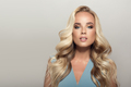 Blond Woman With Long Curly Beautiful Hair. - PhotoDune Item for Sale