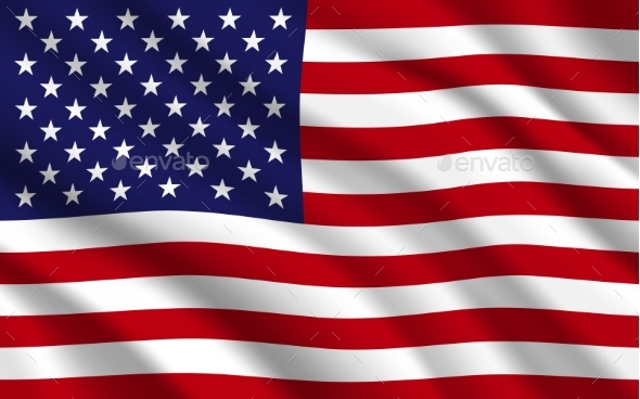 Flag of USA or United States of America Background