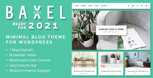 Baxel - Minimal Blog Theme for WordPress
