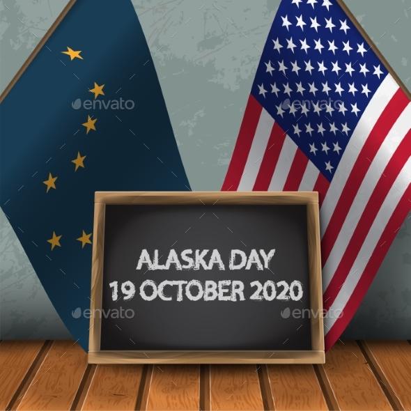 Flag of Alaska and Usa