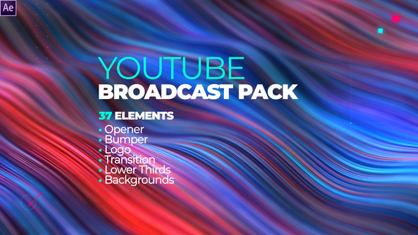 YouTube Channel Broadcast Pack 37 Elements