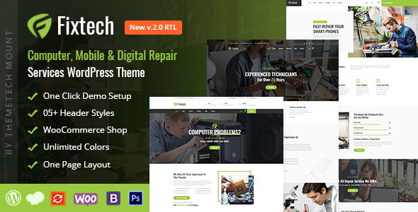 Fixtech - Computer & Mobile Repair Services WordPress Theme
