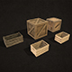 Wooden Crates - Low Poly - 3DOcean Item for Sale