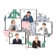 Business Conference Video Call, Remote Project - GraphicRiver Item for Sale