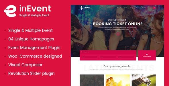 InEvent | Multi-Purpose for Conference Management WordPress Theme