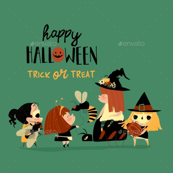 Halloween Redheaded Witches