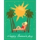 Happy Summer Day Card Inscription, Stylish Text - GraphicRiver Item for Sale