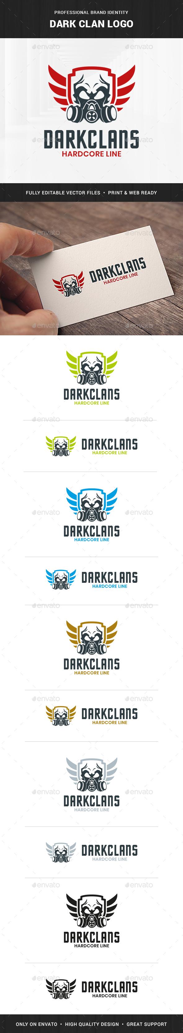 Dark Clan Logo Template