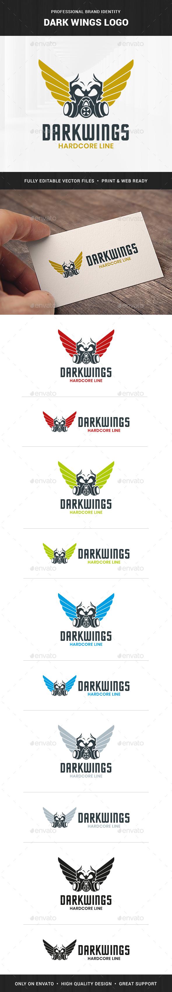 Dark Wings Logo Template