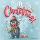 Vector Cartoon Illustration Merry Christmas - GraphicRiver Item for Sale