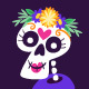 Mexican Day of Dead Label Collection - GraphicRiver Item for Sale