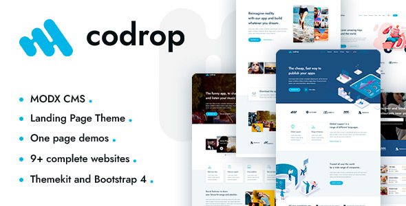 Codrop – App Landing Page And One Page MODX Theme