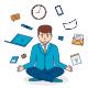 Stress Management Concept of Businessman - GraphicRiver Item for Sale