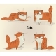 Cute Lovely Red Cat with Strips Collection - GraphicRiver Item for Sale