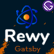 Rewy - Gatsby React IT Startup Template - ThemeForest Item for Sale