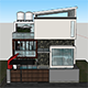 Modern Minimalist House 10x10 With Interior - 3DOcean Item for Sale