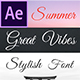 Great Vibes - Animated Typeface for After Effects - VideoHive Item for Sale