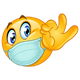 Ok Sign Emoticon with Medical Mask - GraphicRiver Item for Sale