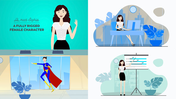 Corporate Female Character Toolkit Vol.1