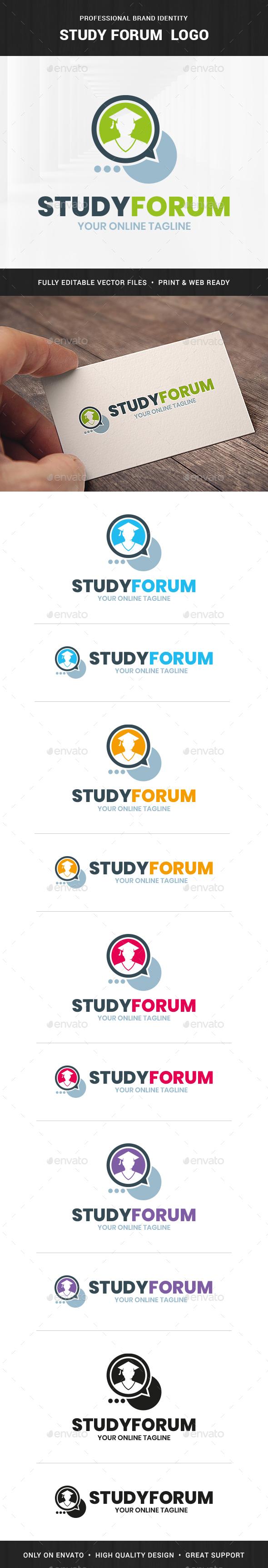 Study Forum Logo Template