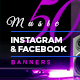 50 Music Instagram & Facebook Banners - GraphicRiver Item for Sale
