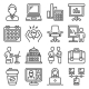 Office Icons Set on White Background - GraphicRiver Item for Sale