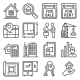 Real Estate and Home Rent Icons Set on White - GraphicRiver Item for Sale