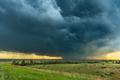 Rainstorm over Grassy Field - PhotoDune Item for Sale