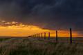Midwest sunset on farmland - PhotoDune Item for Sale