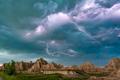 Lightning Storm at Badlands National Park - PhotoDune Item for Sale
