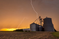 Lightning over feed Processing Plant - PhotoDune Item for Sale