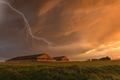 Lightning over grain storage facilities - PhotoDune Item for Sale