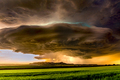 Tornadic Cell over Grassy Field - PhotoDune Item for Sale
