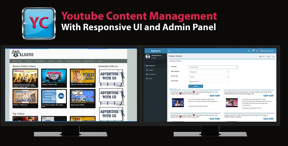 Youtube Channel management with Admin and website in MVC 5 and MySql