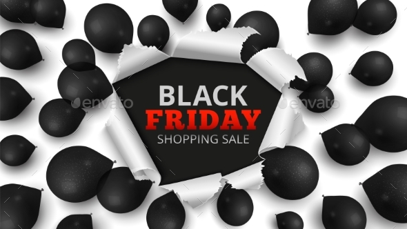 Black Friday Sale Banner. Discount Background with