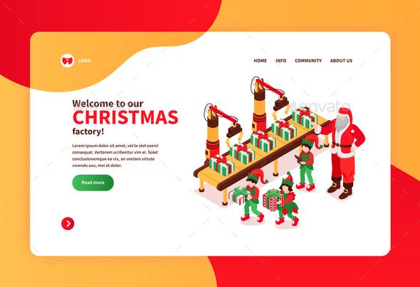 Christmas Factory Website Banner